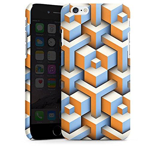 Apple iPhone X Silikon Hülle Case Schutzhülle Muster Würfel Illusion Premium Case matt