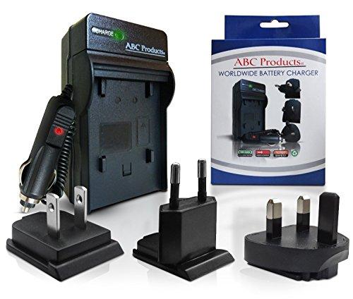 ABC Products® Sostituzione Olympus Li-50B, Li-50C caricabatteria (mondo EU/UK /USA +) per Olympus Mju / Smart / Stylus / Tough fotocamera + DM Series Voice & Music Recorder (modelli indicati di seguito)