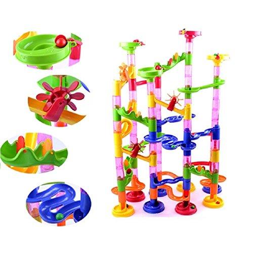 Spielzeug, mamum Piercings DIY Konstruktion Marmor Race Run Labyrinth Bälle Track Bausteine (Marmor Track)