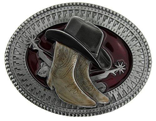 Hat, Boots & Spurs Gürtelschnalle in einer meiner Präsentationsschachteln. - Damen Breite Western-stiefel Breite