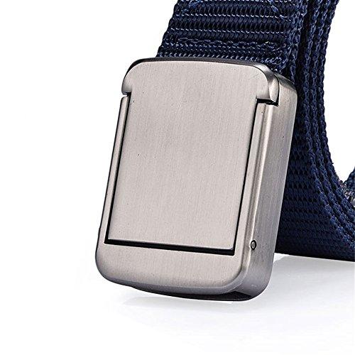 ITIEZY Herren Gürtel Canvas Belt Automatische Schnalle Khaki