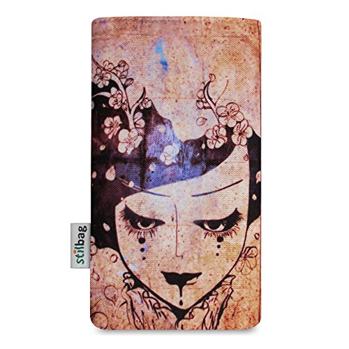 Stilbag Etui 'MIKA' pour Apple iPhone 7 plus - Dessin: Velvet Night Womans Wall
