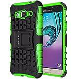 Custodia Galaxy J3 (2016),Pegoo Cover Galaxy J3 (2016) Ultra Slim armatura antiurto Copertura Cassa Custodia Silicone cover Case supporto stabile Protettiva Shell per (2016) Samsung Galaxy J3 (Verde)