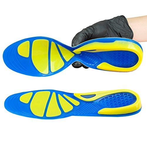 KICCOLY ✅Plantillas para Zapatos de Gel Amortiguadoras, Plantillas de Gel Masaje para Deportivas,Ortopédicas para zapatos,Cómodas para zapatos, Antibacterianas y Flexibles, de Silicona,Mujer y Hombre