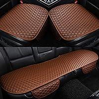 GC Cómodo Y Transpirable Four Seasons General Interior Seat Cushion Cover Pad Mat para Silla De Oficina Auto Car Chair Supplies,Brown