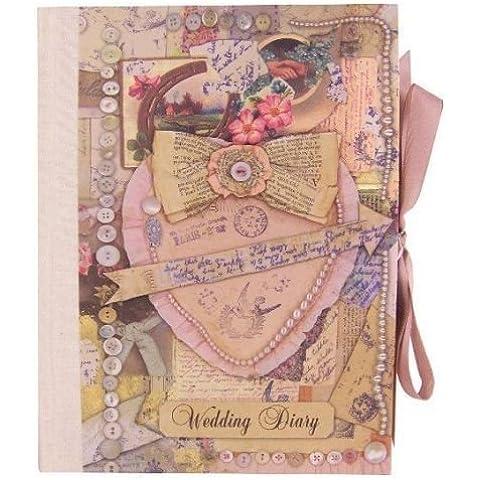 Diario vintage planificador boda (diario/organizador) regalo de compromiso