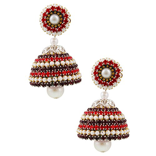 Halowsiehs Handcrafted Artificial Diamond Chain Jhumka  available at amazon for Rs.359