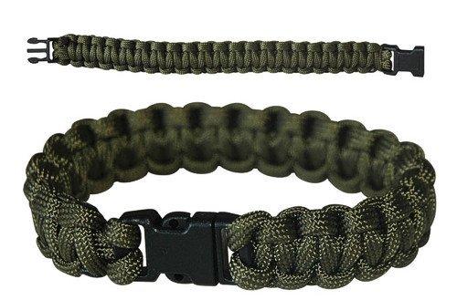 CN Outdoor PARACORD Survival Militär Armband Kunststoff-Schließe Grün Oliv (Kunststoff-militärs)