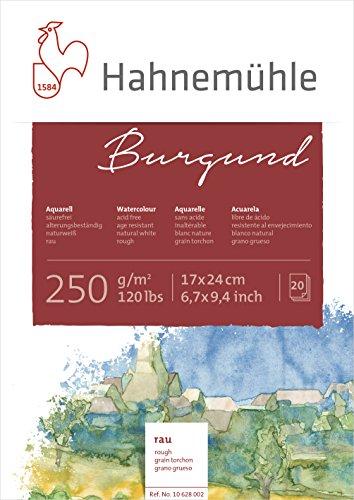 Hahnemühle Aquarellkarton Burgund, rau, 250 g/m², 17 x 24 cm, 20 Blatt