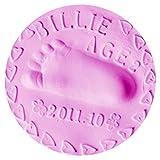 QHGstore Baby Handabdruck Abdruck Lehm Handfuß Tinten Auflage DIY Fertigkeit Geschenke Rosa