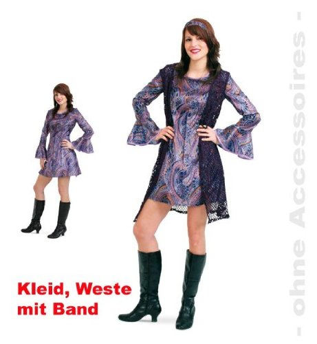 Kleid Uschi 40 Damenkostüm inkl. Long-Weste und Haarband