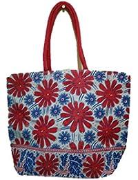 DSK Enterprise Jute Multi Color 14.5*18.5 Inch Eco Friendly Jute Bag Eith Chain (DSKE-12)