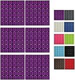 MSV Premium Duschmatte Badematte Badewanneneinlage Anti Rutsch Pads - 6 Stück - antibakteriell rutschfest mit Saugnäpfen - Violett - ca. 13 x 13 cm - duftet nach Rosen - waschbar bei 60° Grad