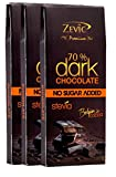 #5: Zevic 70% Belgian Cocoa Dark Chocolate with Stevia - Sugarfree (Triple Pack)