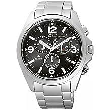 Citizen AS4030-59E - Reloj cronógrafo de cuarzo para hombre, correa de titanio multicolor