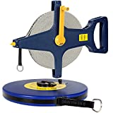 Rollbandmaß 50m 【Größenauswahl / Modellauswahl】 | Glasfaserverstärktes Material | Öse - Maßband Bandmaß Kapselmaßband Messband Maß Messen Rollmeter Rollmaßband