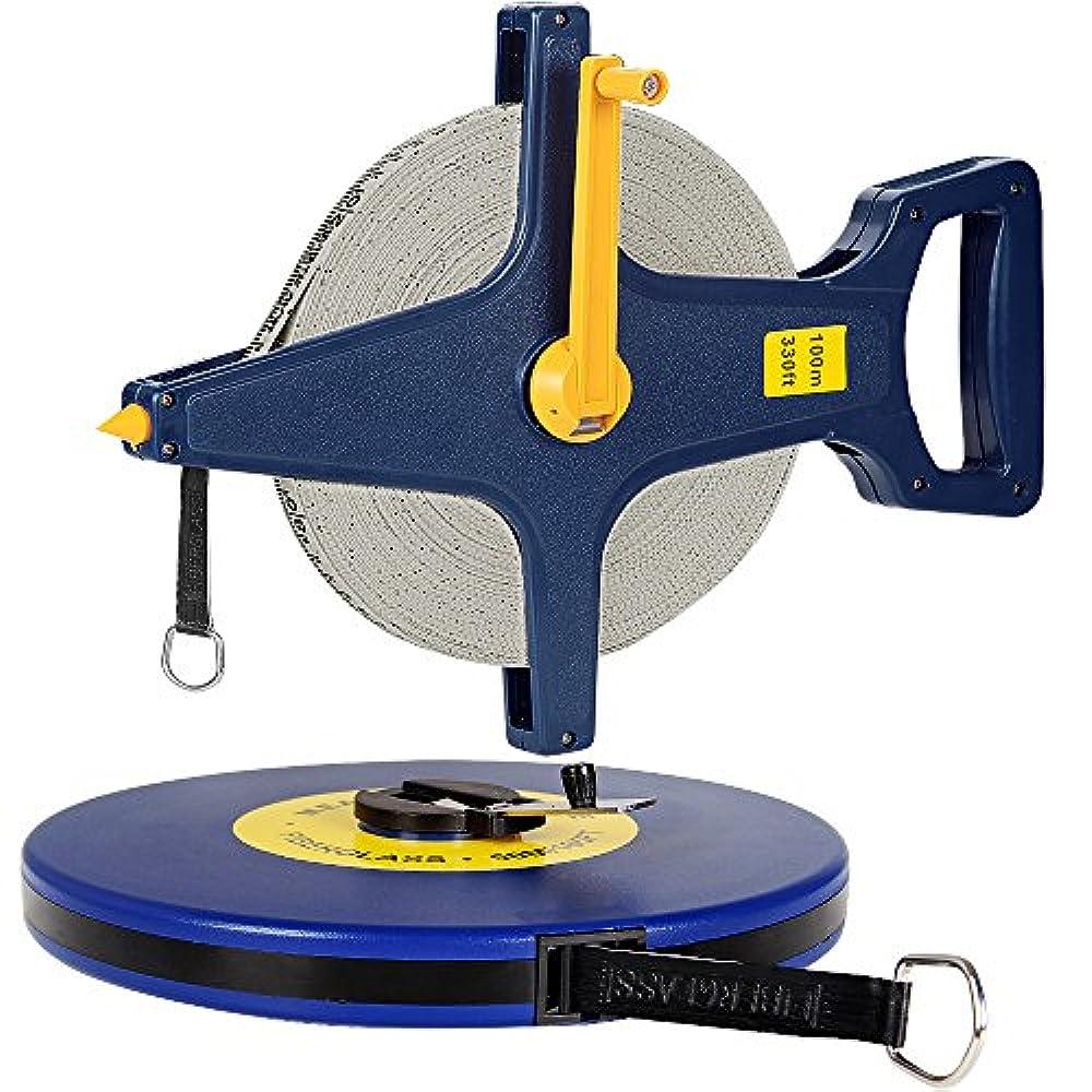 Rollbandmaß 30//50//100m Maßband Kapselmaßband Messband Messen Rollmeter Bandmass