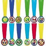 Amscan International - Lot de 12 médailles Super Mario - 396611