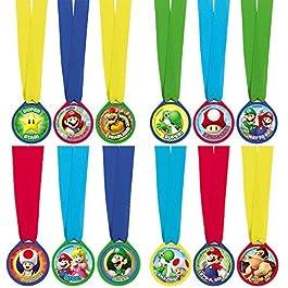 Amscan International 396611Medaglie di premiazione Badgemini di Super Mario