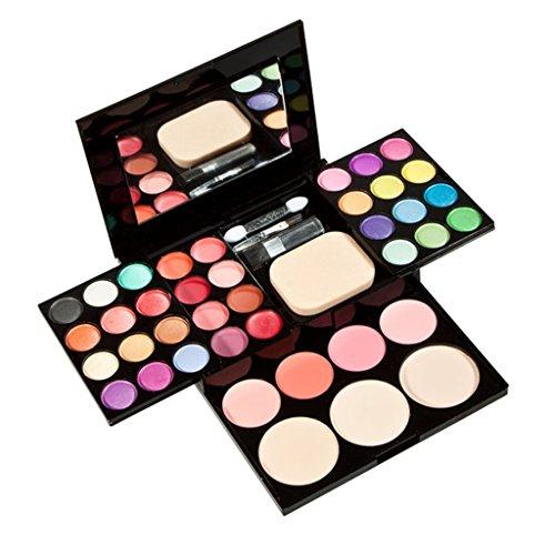 Set Palette de Maquillage Crayon Brosse Poudre à Sourcils Colle de Cils Recourbe-cils Eponge