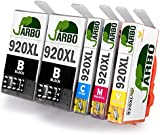 JARBO Compatible HP 920 XL Ink Cartridges (2 Black,1 Cyan,1 Magenta,1 Yellow) High Capacity Compatible with HP Officejet 6000 6500 7000 7500 Printer