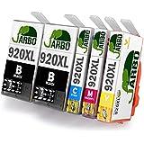 JARBO Kompatibel HP 920XL Tintenpatronen 1Set+1Schwarz Hohe Kapazität Kompatibel für HP Officejet 6000 6500 7000 7500 E709 Drucker (2 Schwarz,1 Cyan,1 Magenta,1 Gelb)