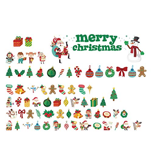 (Bodbii Bunt Merry Christmas Dekoration Baum Geschenk Aufkleber Urlaub Dekoration Fenster Home Room Store)