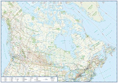Preisvergleich Produktbild Übersichtskarte Kanada: plano in Versandrolle,  1:6 Mio. (Busche Planokarten)