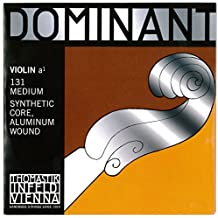 Thomastik corde per violino Dominant Nylonkern Medium La rivest. alluminio. 4/4;