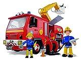 Simba 109257661 - Feuerwehrmann Sam Jupiter Feuerwehrauto mit 2 Figuren, 28 cm