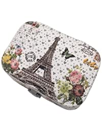 DESIGNEEZ 1PCS Fashion Women Jewelry Storage Box Earrings Necklace Storage Container Holder Casket Box Organizer... - B078M7G398