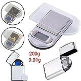 Rokoo 0,01g x 100 / 200g Mini Digital Taschenwaage Schmuck Diamant Gewicht Waagen Werkzeug