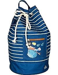 Spiegelburg 14546 Bolsa Marinera Bolso de Playa Capt'n Sharky en el Fondo del Mar Azul 21 x 39 x 21 cm