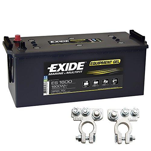 Exide Equipment Gel Batterie ES 1600 12V 140Ah inkl. Polklemmen Boot Solar Wohnmobil -