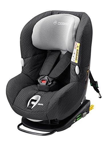 Maxi-Cosi MiloFix - Reboarder Kindersitz, Gruppe 0+ /1 (0-18 kg), Kinderautositz mit Isofix,  Black Crystal