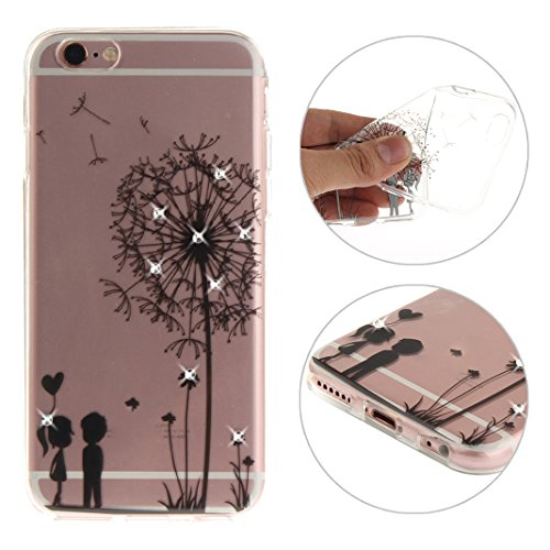 "Coque iPhone 6 Silicone Housse,Etui iPhone 6S Gel Transparente Case Cover Rosa Schleife® 4.7"" Apple iPhone 6 TPU Silicone Gel Souple Case Coque de Protection Portable Smartphone pochette Transparente  Style-4"