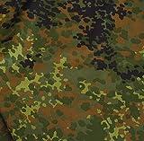 TOLKO Bundeswehr Camouflage-Stoff Meterware - Robuster Baumwollstoff im 5 Farben Tarndruck