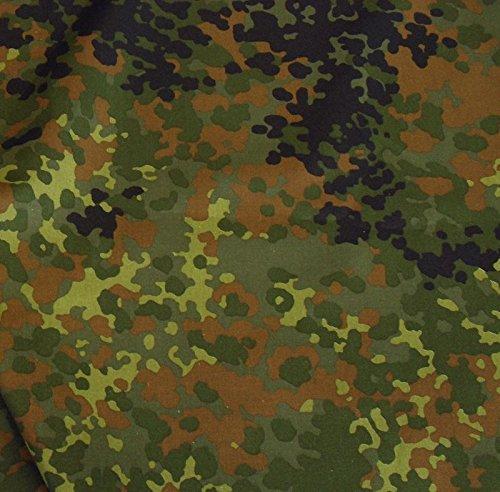 TOLKO Camouflage Stoff aus Baumwolle | Robust, Farbecht und UV-beständig | Uniform Meterware im Armee Flecktarn der Bundeswehr | mittelschwer 160cm breit (Mehrfarbig)