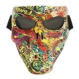 Vhccirt Maschera Motociclo Occhiali Polaroid Occhiali Da Sci Grigio Lens Via Graffiti Mask Grim Reaper Cos Maschera Per Casco Da Cross / Party Cos / Airsoft Safety