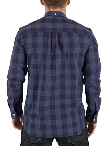 Lyle & Scott Homme Block Check Logo Shirt, Bleu Bleu