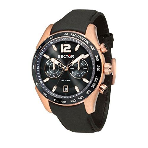 SECTOR Orologio Cronografo Quarzo Uomo con Cinturino in Pelle R3271794003
