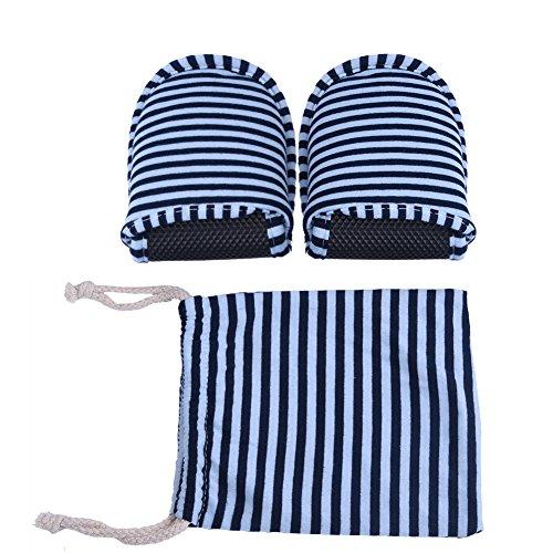 Alomejor 1paio ciabatte pantofole da viaggio pieghevole portable striped lavabile con interno morbido cotone antiscivolo pantofole usa e getta per viaggi hotel home, blue stripes, man