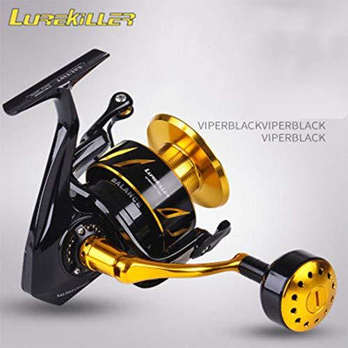 ETbotu - Carrete de Pesca para Barcos Lurekiller Saltist CW3000- CW10000 Spinning Jigging Reel Spinnrolle 10BB Alloy Reel 35 kg Drag Power CW6000
