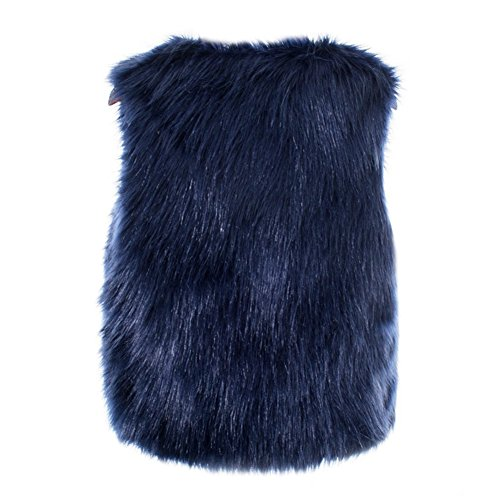 52ea404a60151d Per Manteau Sans Manche Fausse Fourrure Gilet Femme Hiver Veste Fourrure  Femme Sans Manche Faux Fur ...