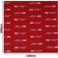 Almohadillas redondas de acrílico 3M VHB de doble,100mm x 100mm x 1mm de grosor,cinta VHB resistente a la intemperie, Modelo: 5952