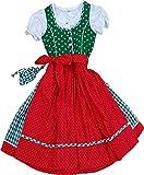 Zauberhaftes Kinderdirndl Hanni mit Täschchen, 4tlg. Komplettset in verschiedenen Ausführungen, Farben:tanne;Größen:110