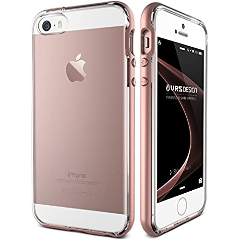 Funda iPhone SE, VRS Design [Crystal Bumper][Oro Rosa] - [Transparente][Shock- Absorción case][protección cover] - Para iPhone