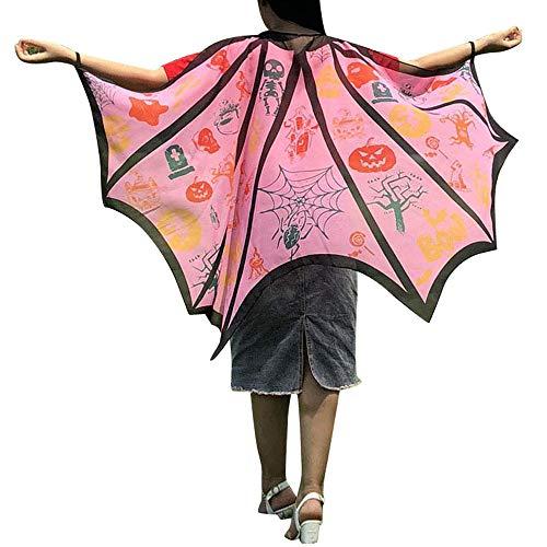 Junjie Kinder Jungen Mädchen Chiffon Böhmischen Frauen Männer Halloween Print Eins Schal Kostüm Zubehör Schmetterling Blumen Print Schal Pashmina Kostüm Größe: 145 * ()