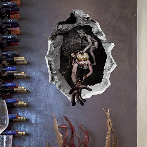 nas de pared decoración de Fondo de Miedo para la sala de Estar de la Familia de Halloween ()