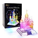 Swonuk 3D Music Castle Puzzle 105 PCS Crystal Jigsaw Puzzles for Kids Adults DIY Intelligent Puzzles